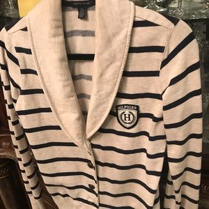 Tommy Hilfiger creme and navy stripes very warm XS